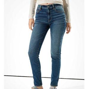 AEO Hi Rise Skinny Stretch Fitted Denim Jeans